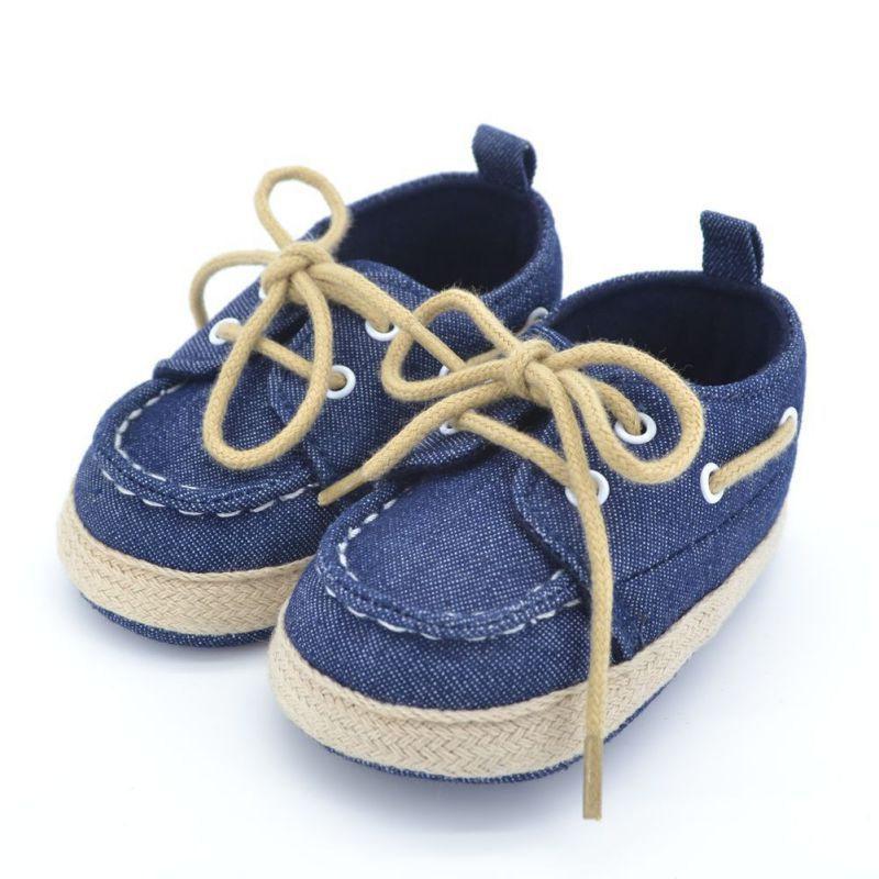 Spring Autumn Toddler First Walker Baby Shoes Boy Girl Soft Sole Crib Laces Sneaker Prewalker Sapatos