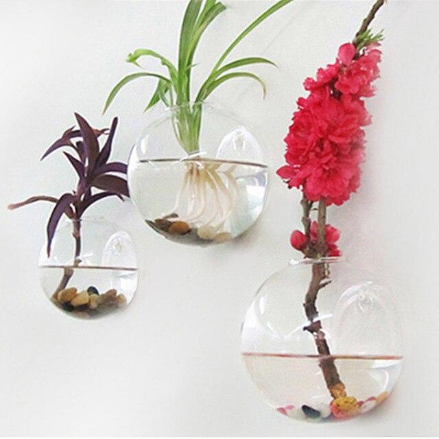 Glass Hanging Vase Terrarium Hydroponic Plant Pot Flower Diy Home