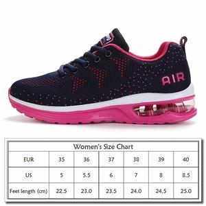 Image 5 - זהב שתיל ריצה באיכות גבוהה נעלי נשים לנשימה אוויר רשת לסרוג כרית נשים סניקרס קיץ חדש מאמן ספורט נעליים