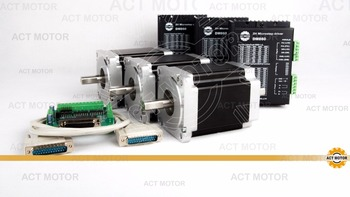 ACT 3axis  dual shaft  nema 34 stepper motor 5.6A / 1200oz-in 34hs1456B with driver DM860 cutting mill  CE