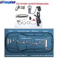 Car Modification For Citroen DS 4 Crossback Remote Electric Gas Exhaust Vent Pipe Tailpipe Shaft Muffler Flange Base