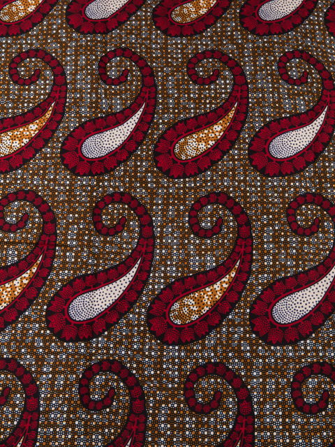 African Fabrics Suppliers Real Wax Red Orange White Jewellery