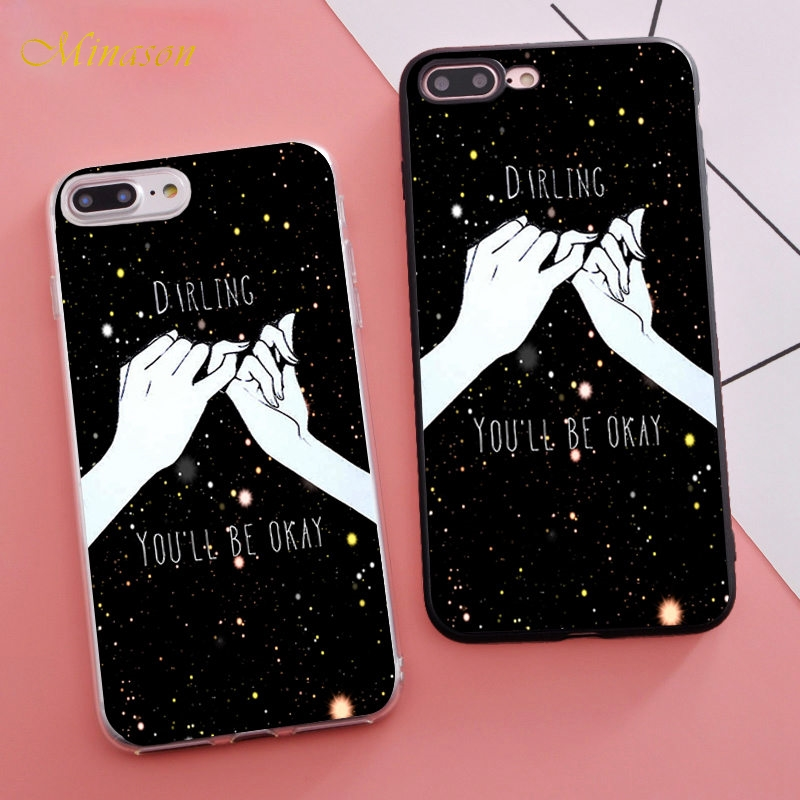 buy popular 72480 e0e88 US $1.99 35% OFF|Fashion Abstract Line Couple BFF Soft Silicone Phone Case  for iPhone X 5 5S XR XS Max SE 6 S 6s 7 8 Plus Cover Trending Coque-in ...
