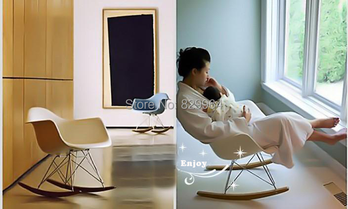 Aliexpress.com : Buy Top Quality Plastic Eames RAR Rocking Chair Leisure  Armchair Cadeira Sandalye Living Room Furniture,wood Dining Chair From  Reliable ... Part 79