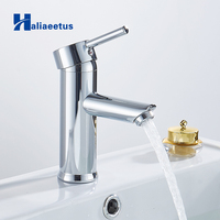 chrome bathroom faucet basin tap Straight bathroom sink faucet tap water waterfall basin mixer