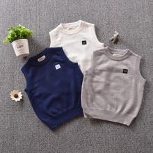 Children's Autumn Kintted sweater Soft rabbit velveteen British style KID Boys' and girls' waistcoats School fashion Vest TP043 цена