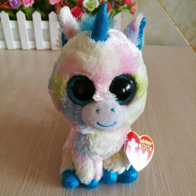 TY BEANIE BOOS collection 1PC 15CM blitz blue unicorn Plush Toys Stuffed  animals soft toys buddly girl toys 45f4398bb077