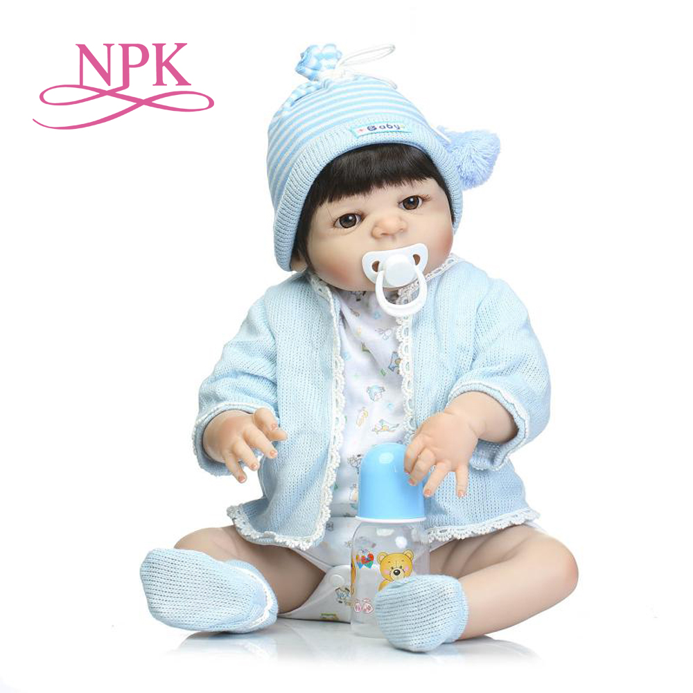 NPK 23 Full body Silicone bebe doll reborn boy doll toy for children xmas gift bebe
