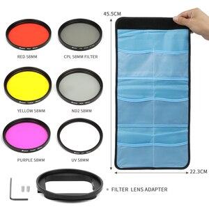 Image 5 - Ateş 6 in 1 58mm/52mm filtre GoPro Hero 7 5 6 4 3 + siyah gümüş su geçirmez kılıf dalış filtresi gitmek için Pro 7 6 aksesuar seti