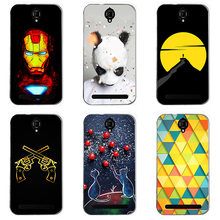 For Alcatel One Touch Flash Plus OT7054T Case Hard Plastic Back Cover Cases Painting Abstract Hard Cases Patterned Shell Skin(China)