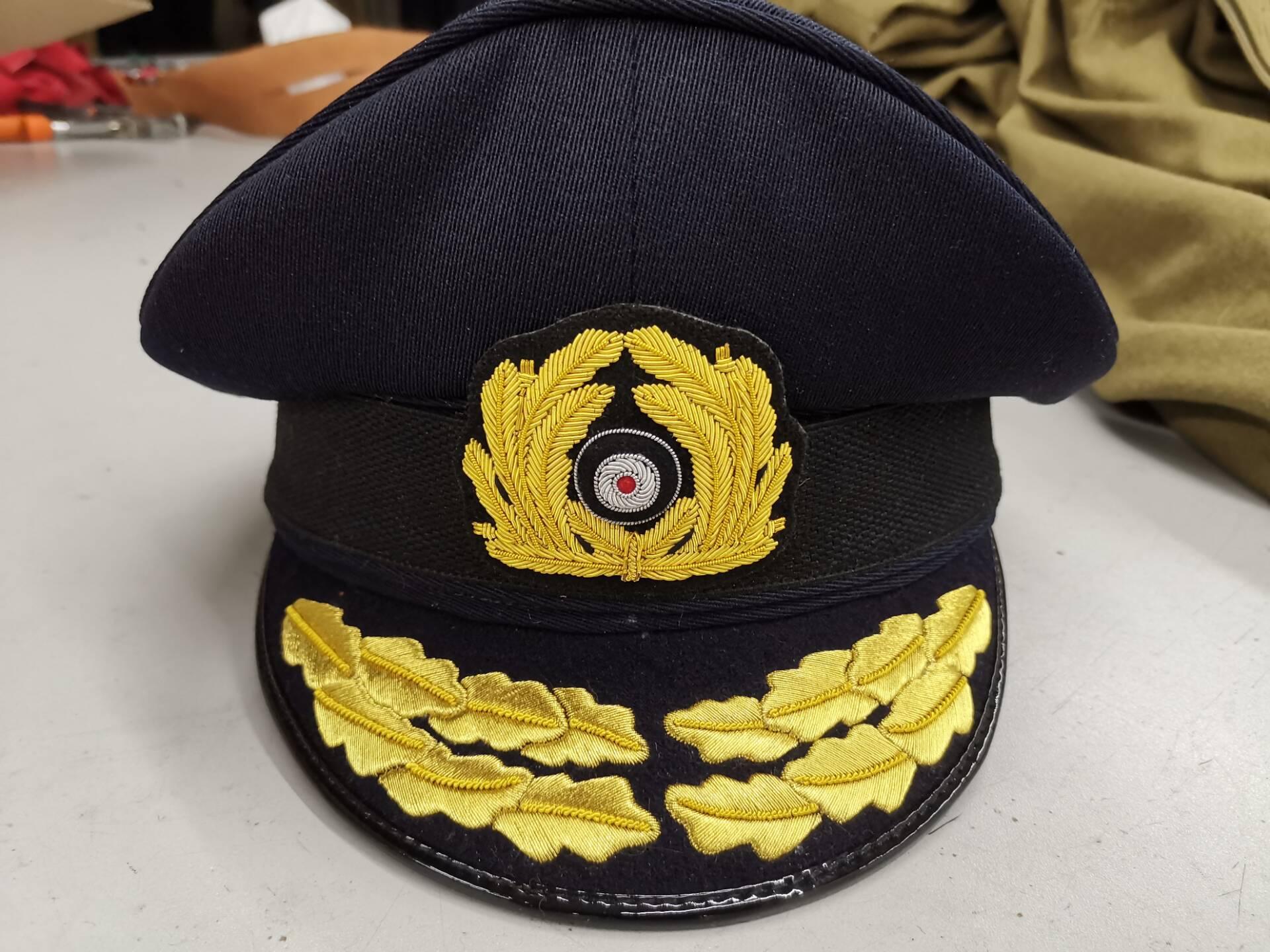 WW2 E M D Navy hat Twill Wool General