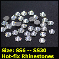 99 Similar Swa 7big 7small 14 Facets Round Loose Hotfix Rhinestone Clear Crystal SS6 To SS30