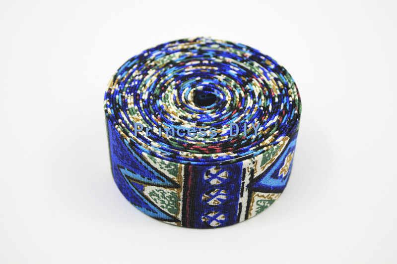 5 מטרים\חבילה 10mm 25mm 40mm צבעוני הסיאן פשתן בד סרט בוהמי עבה קשה חגורה אופנה סגנון DIY שיער קשת חומר