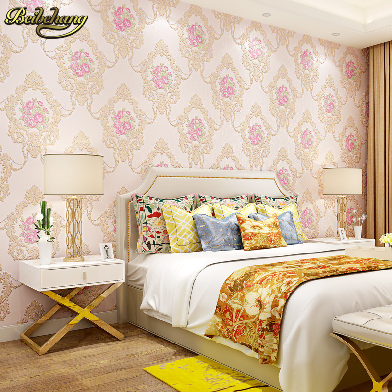 beibehang european rural relief non woven wallpaper for