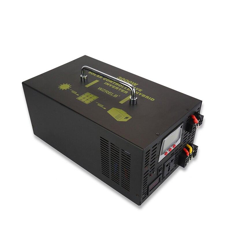 Pure Sine Wave Solar Inverter 3000W 12V/24V/48V DC to 120V/220V/230V/240V AC Converter Hybrid Inverter 30A Charger Controller 5000va hybrid pure sine wave inverter with ac charger mppt solar controller dc 48v to ac 220v 230v 240v 4000w