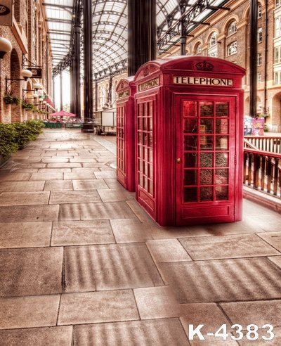 Digital Screen Background For Wedding Photograph Photo Props Outdoor Red Telephone Booth Decor Vintage Building Vinyl Backdrops In From Consumer
