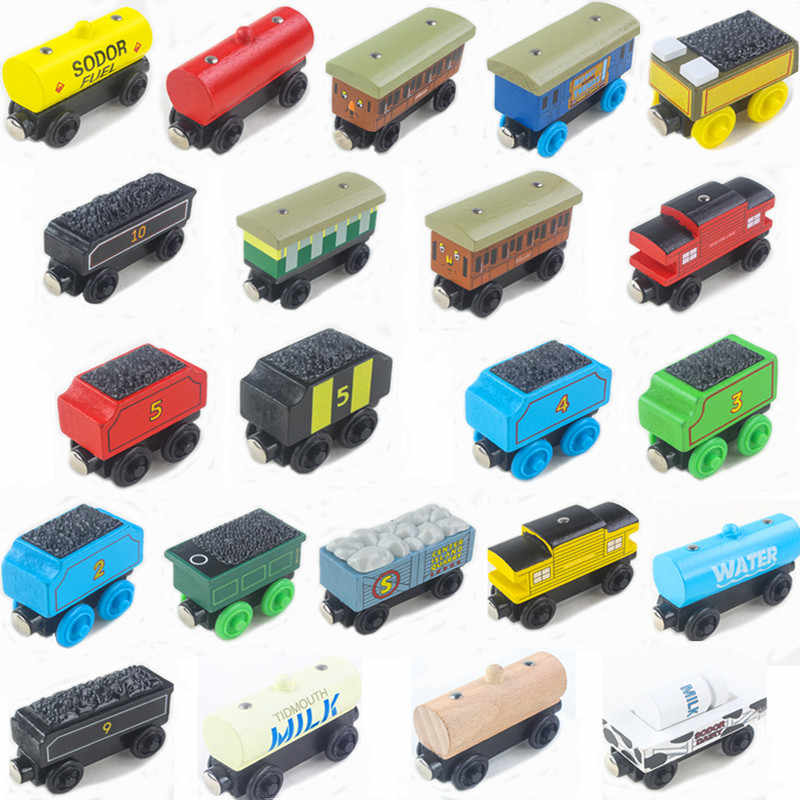 23 Styles Wooden Train Toys Thomas Magnetic Wooden Trains Model Baby Children Kids Toys Birthday gift