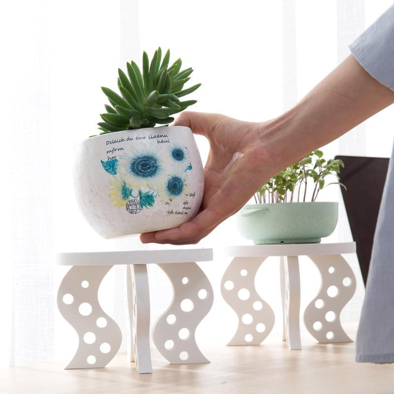 Romantic DIY wooden floor pots shelves desktop background decoration organizer shelf for plant routers fixed phone