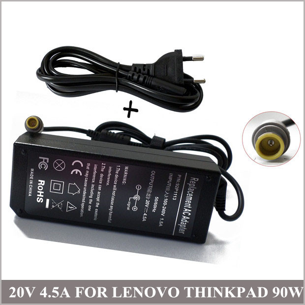 20V 4.5A 90W Notebook Charger Laptop Universal AC Adapter For Lenovo ThinkPad T430s T530 2352-CTO 239242U <font><b>i5</b></font>-<font><b>3320M</b></font> image