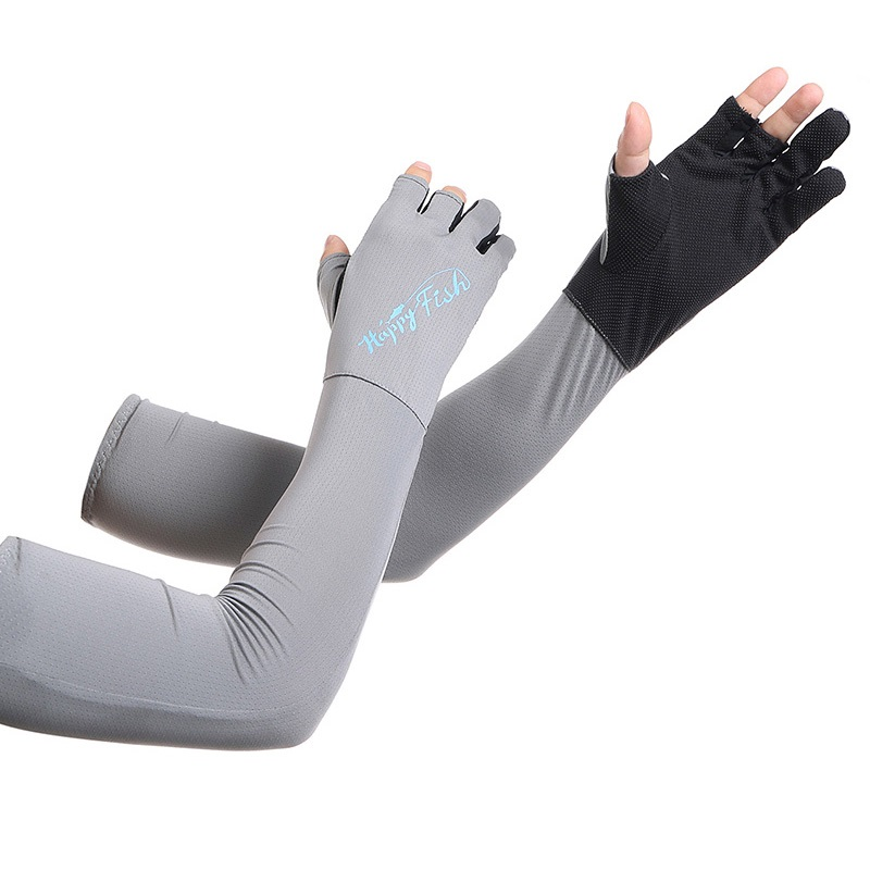 Outdoor Sunscreen Arm Warmers Arm Sleeves For Sun Protection Cycling Arm Warmers Fishing Sleeves Three Finger Gloves sahoo 45545 outdoor cycling polyester arm sleeves white green pair xxl