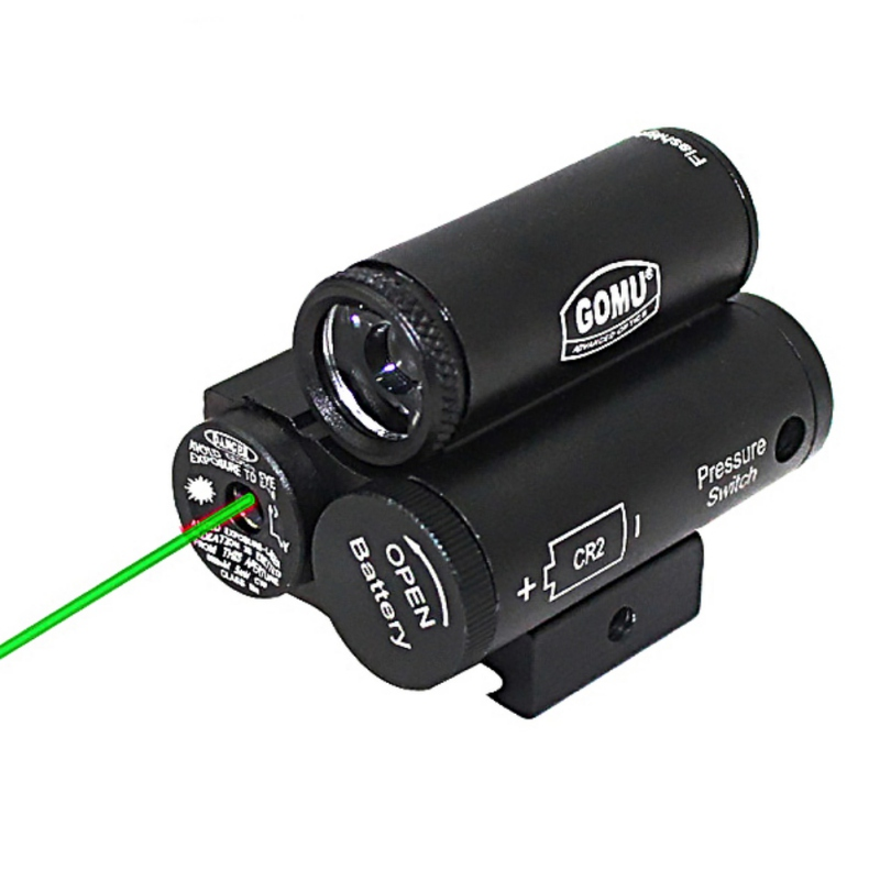 9906 Tactica Red Green Dot Designator Laser Sight Torch Riflescopes / Illuminator / Gun Flashlight With Mount / Press Switch