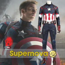 Avengers Age of Ultron Captain America Cosplay Costume Superhero Steven Rogers Outfit Adult Men Halloween Cosplay Costume