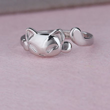 Cute Fox 925 Sterling Silver Ring