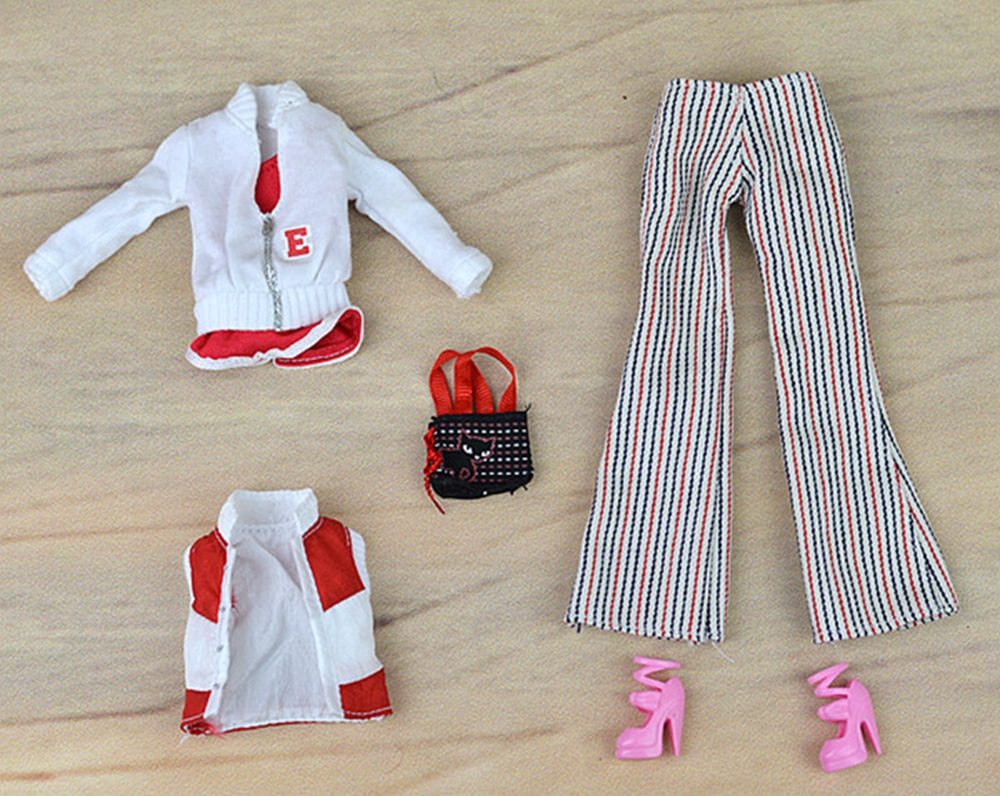 Doll Accessories For Barbie Dolls Winter Wear Suit Set Sport Coat Waistcoat Bag Pants Bag Accessories Clothes Kit Toys Kids Gift barbie originais pet set dolls with girl dolls barbie dolls boneca children gift brthday gift for girls brinquedo toys djr56