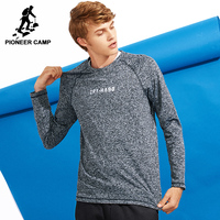 Pioneer Camp New Thicken T Shirt Men Brand Clothing Casual Fleece T Shirt Male Quality Stretch