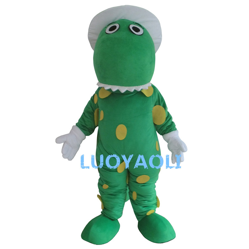 Green Dragon Dinosaur Mascot Costume Fancy Dress Custom Fancy Costume Cosplay Mascotte Theme Carnival Costume Kits перчатки mascotte mascotte ma702dwuuh02