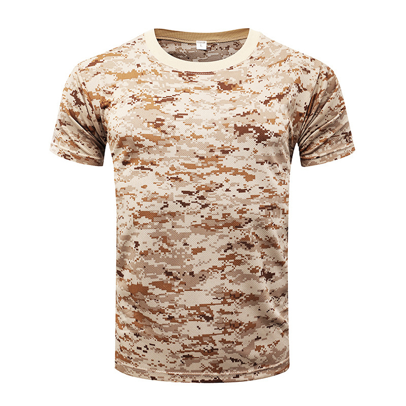 TACVASEN Men Summer Camouflage Tactical T-Shirt Short Sleeve Quick Dry T Shirt Military Tee shirts Hunt Clothing TD-WHCM-011