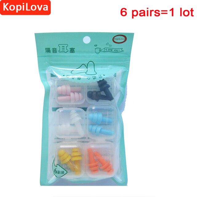f61198acf KopiLova 10 lotes Silicone Tampões de Ouvido À Prova de Ruído Protetor  Auricular à prova de