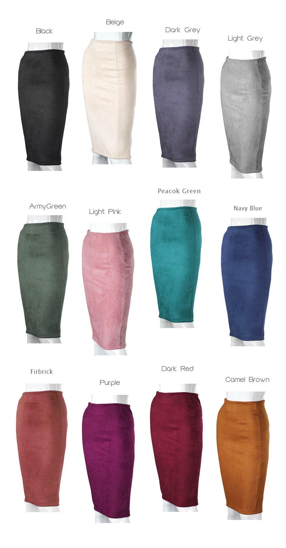 Aliexpress.com  Comprar Qiuxuan las mujeres elegantes faldas ... dfb89edd387d