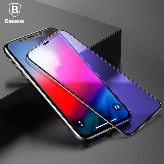 detailing 04c8b a3f66 US $9.99 |BASEUS 0.3mm Rigid edge Curved Tempered Glass For iPhone Xs Max  XR Full Screen Protector For iPhone XR Xs Max-in Phone Screen Protectors ...