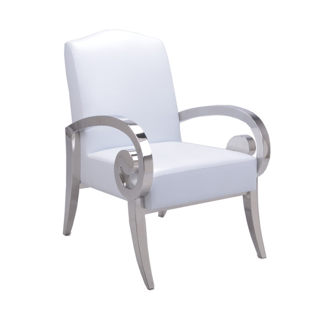 Steel Chair For Office Kmart Patio Chairs On Sale Leetin New Experience Simple And Stylish White Stainless With Armrests Study Lounge