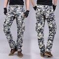 Верхняя одежда мода повседневная брюки Большой карман брюки Камуфляж Хип-Хоп Армии брюки Высокое Качество Военные Брюки-Карго