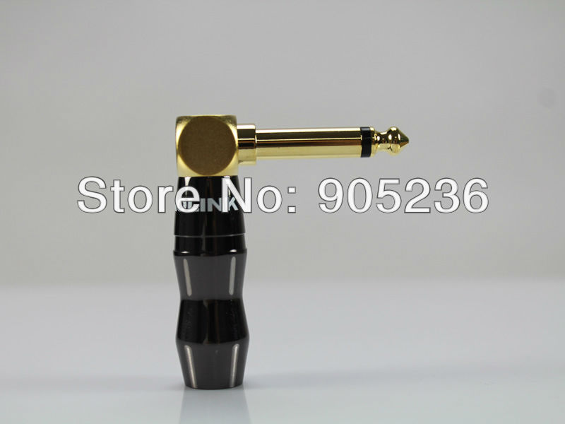 ACROLINK FP-6.3-2L 6.5mm Golden Plated Mono Male 90 degrees Adapter diameter for diy HiFi Headphone Plug