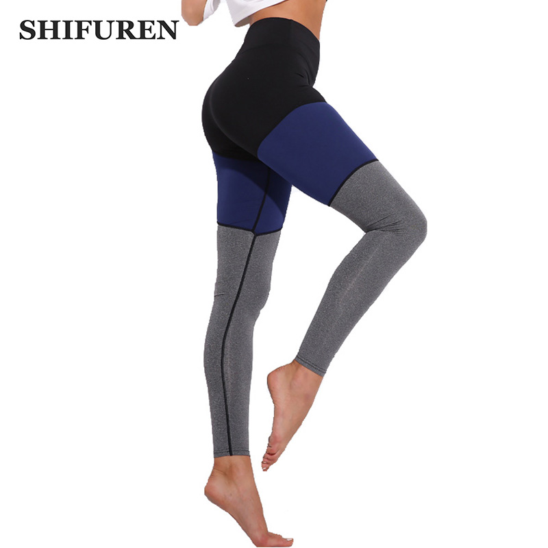 SHIFUREN Women Running Yoga Pants Push Up Professional Gym Fitness Leggings Skinny Workout Compression Trousers Active Wear