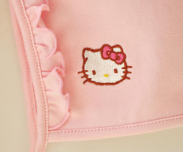 HTB1RjsPJFXXXXbeXpXXq6xXFXXXG - 2 Pcs Newborn Girl Organic Cotton Hello Kitty Romper Set Baby Cute Pink Jumpsuit with Hat New Born Ruffled Collar Bowknot Outfit
