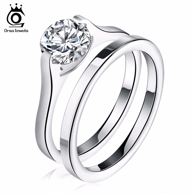 ORSA JEWELS Romantic Bridal Sets Zirconia Wedding Engagement Rings for Women Sta