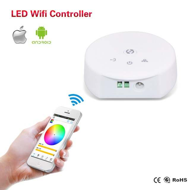 US $19 68 |Magic Home UFO RGB/RGBW WiFi LED Controller DC 12 24V for IOS  and Android Software,Group Control Function,Music mode etc-in RGB  Controlers