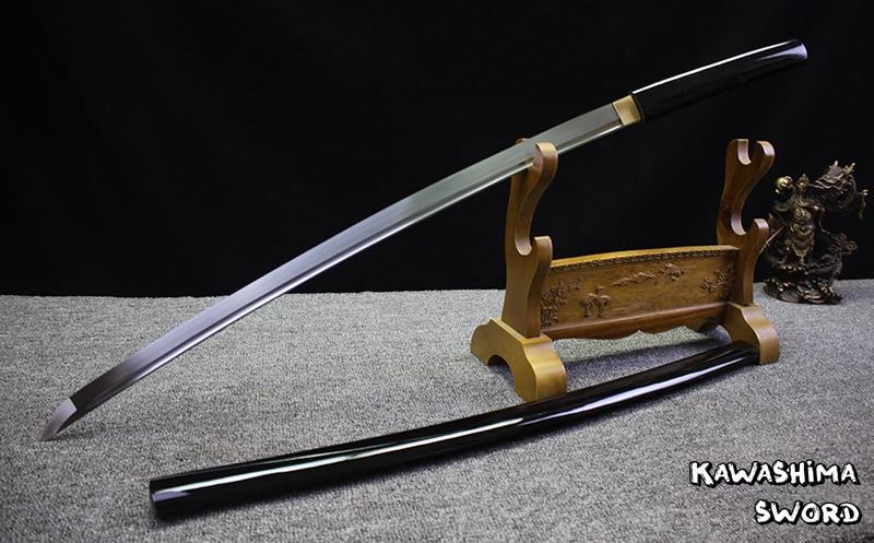 ศิลปะการต่อสู้สำหรับ Handforged ญี่ปุ่น Shirasaya Samurai Katana Sharp Sword 1045 เหล็กคาร์บอนภาพวาดสีดำ-ใน ดาบ จาก บ้านและสวน บน   3