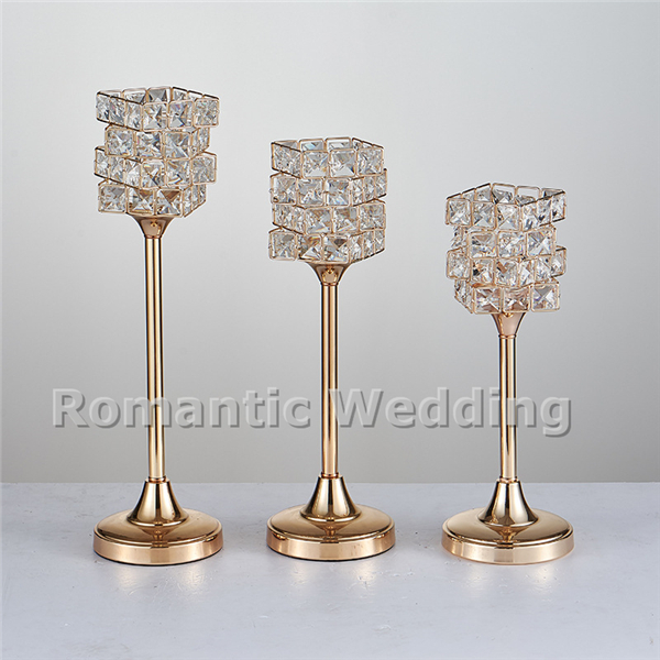 Free shipment 10PCSlots 4 tiers crystal metal candle holder centerpiece for Wedding decorations event party decorations