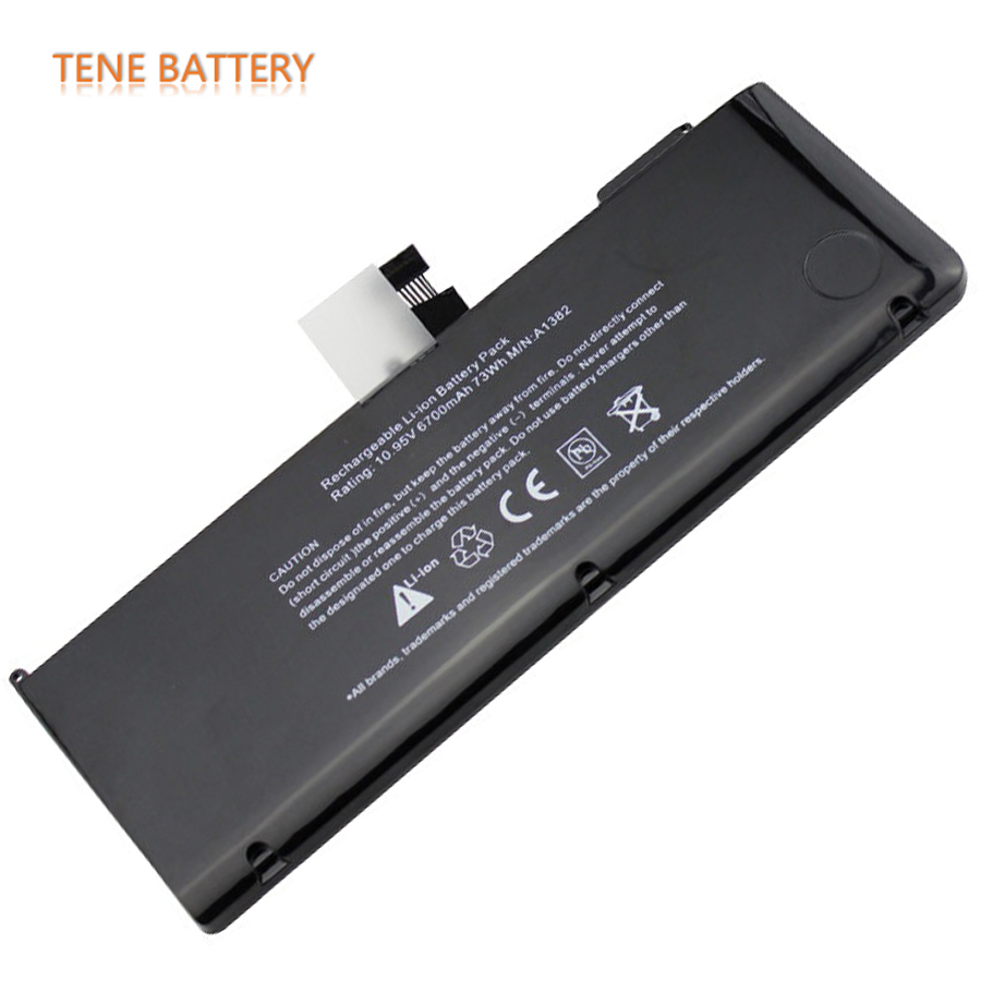 1382 Battery for Macbook 10.95V 6700mAh A1382 Batteries for Apple MacBook Pro 15 A1286 2011 2012 Model Version A1382 Bateria аккумулятор для ноутбука apple macbook pro 15 a1286 2011 2012 series 10 95v 5400mah 59wh
