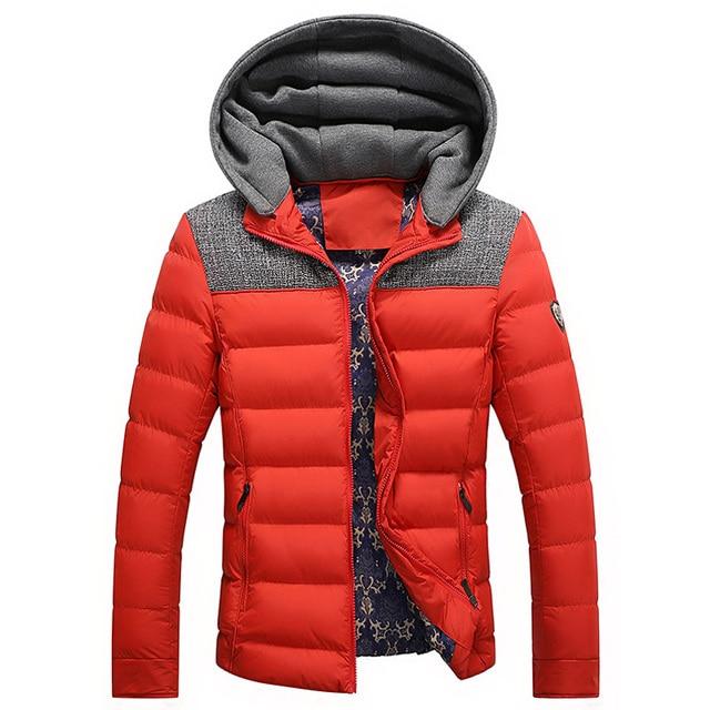 647230f0e € 74.28 |Abajo chaqueta con capucha, adolescentes británicos delgado  acolchado hombres Pakas gruesa de algodón para hombre 3XL nuevas llegadas  en ...