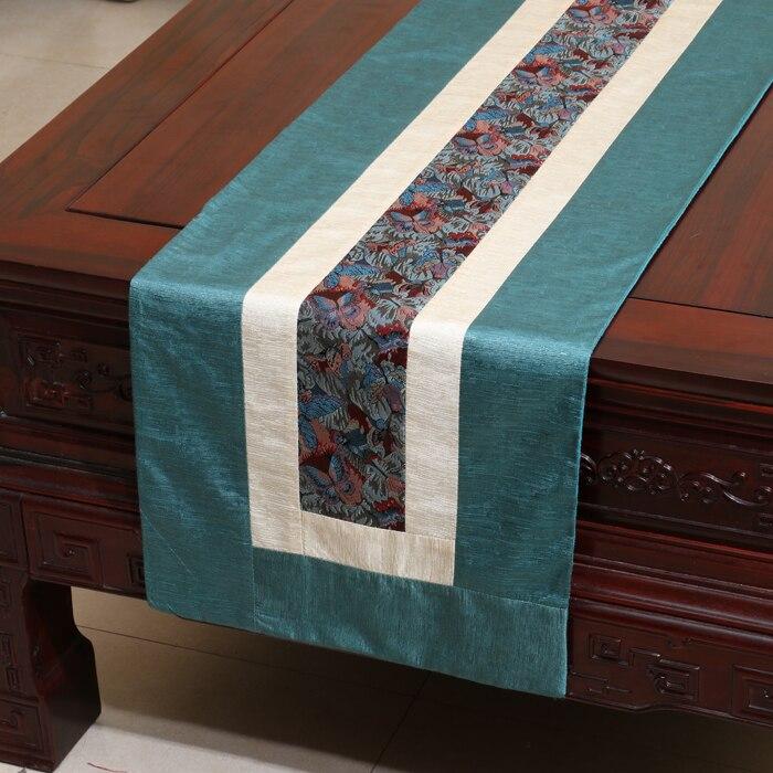 Chemin de Table en dentelle moderne rustique fait à la main Patchwork tissu de Table en coton damassé tapis de Table à manger rectangulaire