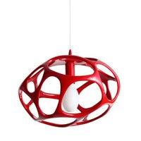 אורות תליון קן ציפור המודרני LED מתקן תליית מנורות GZMJ Abajur Hanglamp Industrieel Zwart לופט אורות עיצוב בית שחור