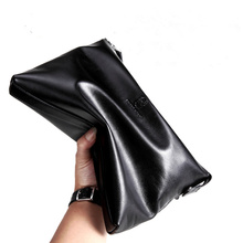 Luxury Clutch Wallet Soft Cowhide Designer Men Wallets High Capacity Famous Men Genuine Leather Wallets Brand Men Clutch Bags