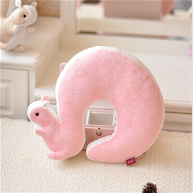 Animal Shaped Massage Pillow : Nap Pillow 1Pcs Novelty Squirrel Animal Cotton Plush U Shape Neck Pillow Travel Car Home Pillow ...