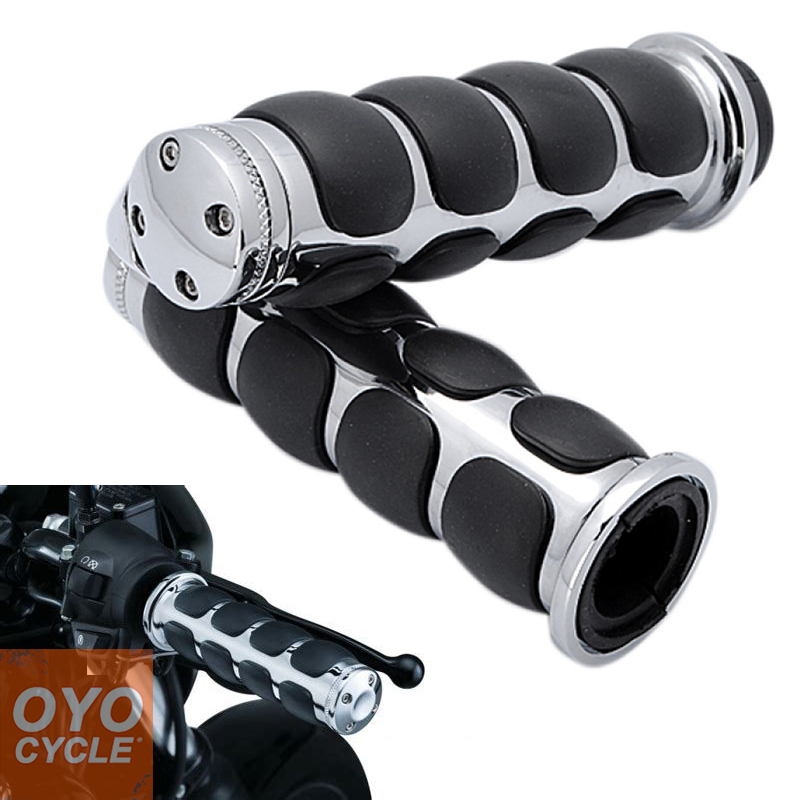 For Harley Choppers Kawasaki Vulcan Honda Shadow Goldwing GL 1200 Suzuki Intruder Universal 1 quot Motorcycle Hand Grip Handle Bar in Grips from Automobiles amp Motorcycles